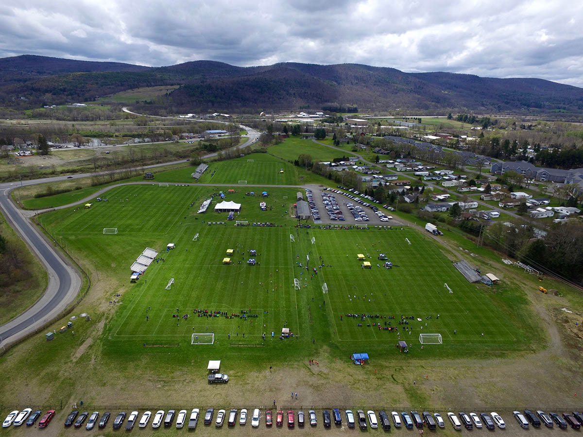 Another overhead view of Wright National Soccer Campus